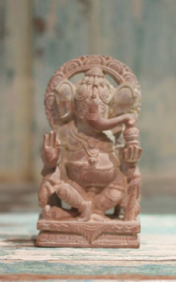 Miniature Hand Carved Soapstone Ganesha <b>SOLD<b>